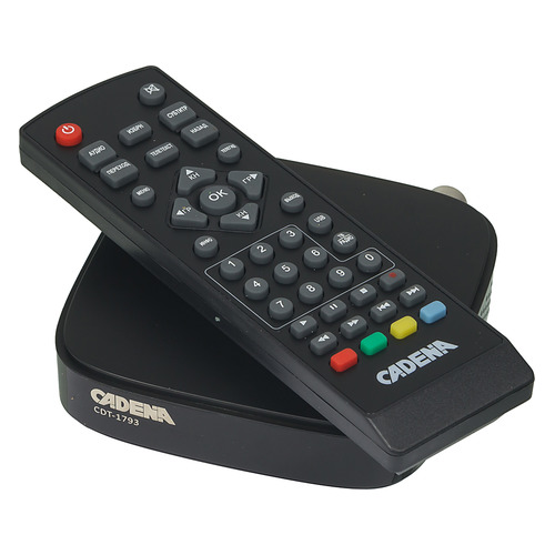 Ресивер DVB-T2 CADENA CDT-1793, черный [046/91/00047700] ресивер dvb t2 d color dc902hd