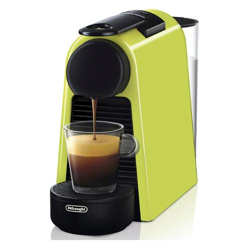 Капсульная кофеварка DELONGHI Nespresso Essenza mini Bundle EN85.L, 1260Вт, цвет: зеленый [0132191656] цена и фото