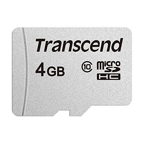 Карта памяти microSDHC TRANSCEND 4 ГБ, 20 МБ/с, Class 10, TS4GUSD300S, 1 шт. карта памяти sdxc transcend 128 гб 22 мб с class 10 ts128gsdxc10 1 шт