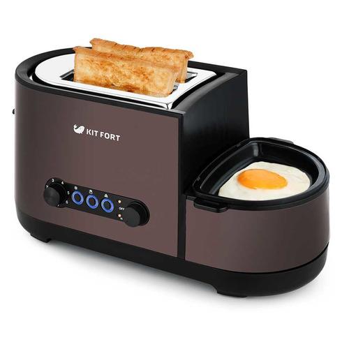 Тостер KITFORT КТ-2012-3, темно-кофейный цены онлайн