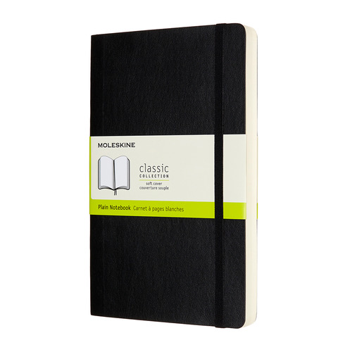 Блокнот Moleskine CLASSIC SOFT EXPENDED Large 130х210мм 400стр. нелинованный мягкая обложка черный 6 шт./кор. цена и фото
