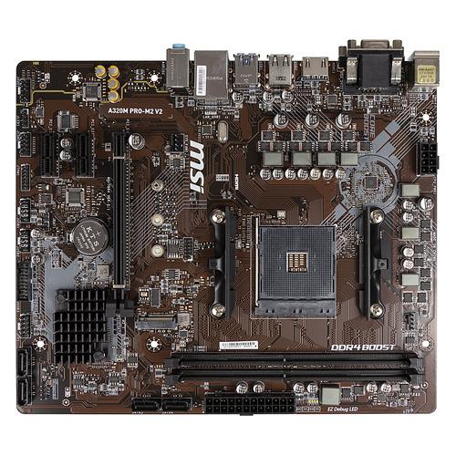 Материнская плата MSI A320M PRO-M2 V2, SocketAM4, AMD A320, mATX, Ret цена и фото