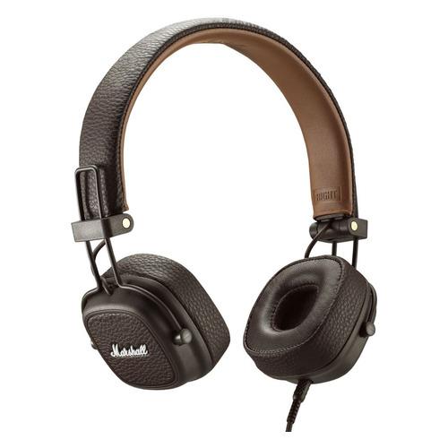 Наушники с микрофоном MARSHALL Major III, 3.5 мм, накладные, коричневый цена и фото