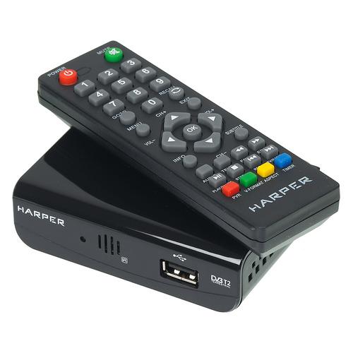 Ресивер DVB-T2 HARPER HDT2-1030, черный ресивер dvb t2 harper hdt2 5010 черный