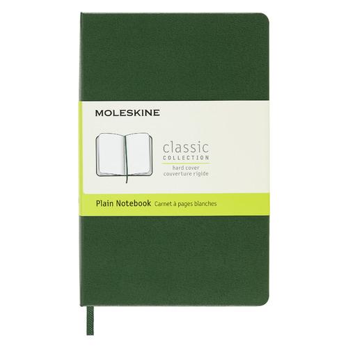 Блокнот MOLESKINE Classic, 192стр, без разлиновки, твердая обложка, зеленый [qp012k15] блокнот moleskine le sakura pocket 90x140мм обложка текстиль 192стр линейка темно розовый