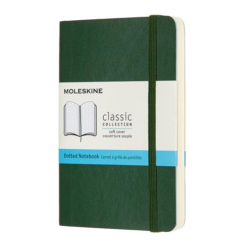 Блокнот MOLESKINE Classic Soft, 192стр, пунктир, мягкая обложка, зеленый [qp614k15] блокнот moleskine le sakura pocket 90x140мм обложка текстиль 192стр линейка темно розовый