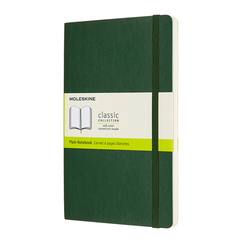 Блокнот Moleskine CLASSIC SOFT Large 130х210мм 192стр. нелинованный мягкая обложка зеленый 8 шт./кор. цена и фото