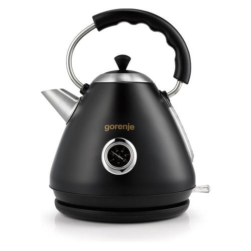 Чайник электрический GORENJE K17CLBK, 2200Вт, черный цена и фото