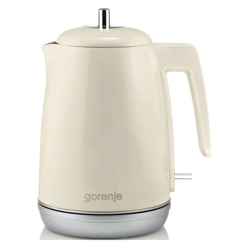 Чайник электрический GORENJE K15RL, 2200Вт, бежевый цена и фото