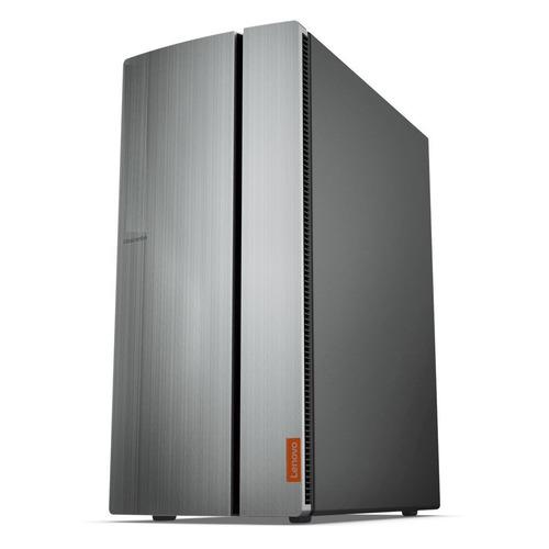 Компьютер LENOVO IdeaCentre 720-18APR, AMD Ryzen 5 2400G, DDR4 8Гб, 1000Гб, AMD Radeon RX Vega 11, noOS, серебристый и черный [90hy003grs]