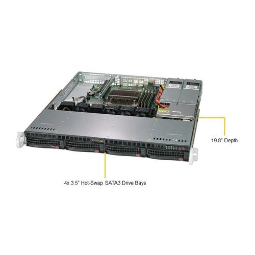 Платформа SuperMicro SYS-5019C-MR C246 1G 2Р 2x400W