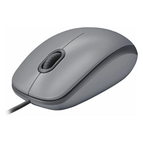 Мышь LOGITECH M110, оптическая, проводная, USB, серый [910-005490] мышь cbr cm 101 black silver usb проводная оптическая 1200 dpi 2 кнопки колесо
