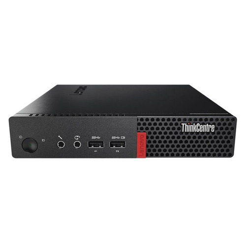 Компьютер LENOVO ThinkCentre M710q Tiny, Intel Core i3 6100T, DDR4 4Гб, 1000Гб, Intel HD Graphics 530, Windows 10 Home, черный [10mrs2bh00] пк lenovo thinkcentre m710q tiny slim i3 6100t 3 2 8gb 500gb 7 2k hdg530 windows 10 professional 64 gbiteth клавиатура мышь черный