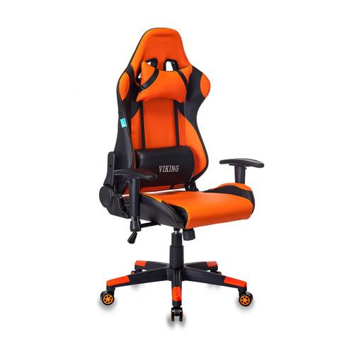 Кресло игровое БЮРОКРАТ CH-778N, на колесиках, искусственная кожа [ch-778n/bl+orange] кресло игровое бюрократ ch 776 на колесиках искусственная кожа [ch 776 bl r]