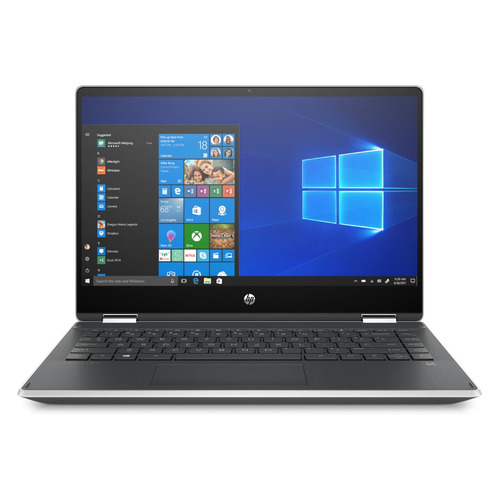 Ноутбук-трансформер HP Pavilion x360 14-dh0009ur, 14, Intel Core i5 8265U 1.6ГГц, 8Гб, 1000Гб, 128Гб SSD, Intel UHD Graphics 620, Windows 10, 6RK74EA, серебристый цена