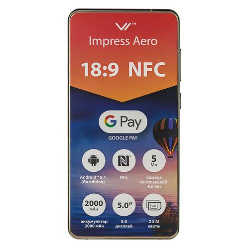 цена на Смартфон VERTEX Impress Aero 8Gb, золотистый