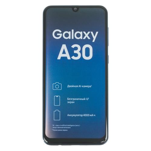 Смартфон SAMSUNG Galaxy A30 32Gb, SM-A305F, синий SM-A305FZBUSER