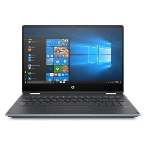 Ноутбук-трансформер HP Pavilion x360 14-dh0001ur, 14, Intel Core i3 8145U 2.1ГГц, 4Гб, 128Гб SSD, Intel UHD Graphics 620, Windows 10, 6PS38EA, голубой цена