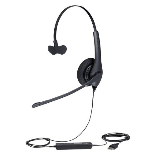 Гарнитура JABRA BIZ 1500 Mono, для контактных центров, накладные, черный [1553-0159] гарнитура plantronics pl hw710 для контактных центров накладные черный