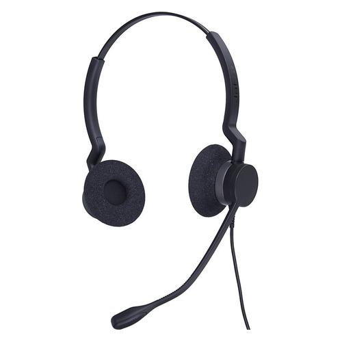 Гарнитура JABRA BIZ 2300 Duo, для контактных центров, накладные, черный [2399-823-109] цена и фото