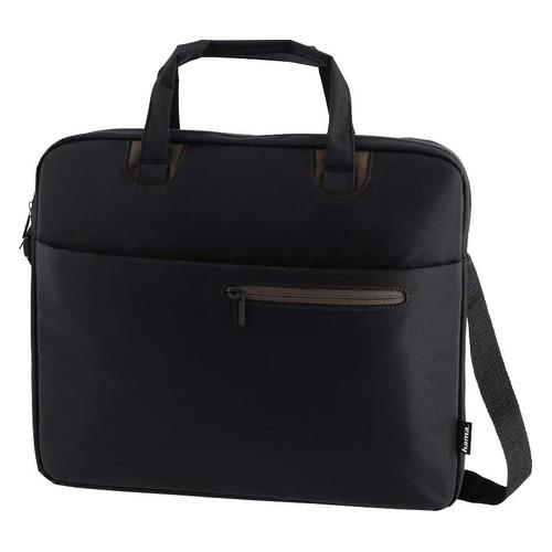 Сумка для ноутбука 15.6 HAMA Sydney, черный/коричневый [00101933] сумка для ноутбука 15 6 hama sydney полиэстер черный синий 00101931