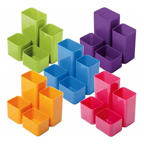 Подставка для канцелярских принадлежностей Стамм ОР311 Юниор прямоугольная пластик цв.ассорт. канцелярия lejoys настольная подставка felt для канцелярских принадлежностей