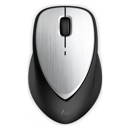 Мышь HP Envy Rechargeable 500, лазерная, беспроводная, USB, черный и серебристый [2lx92aa] мышь беспроводная hp 200 silk золотистый чёрный usb 2hu83aa