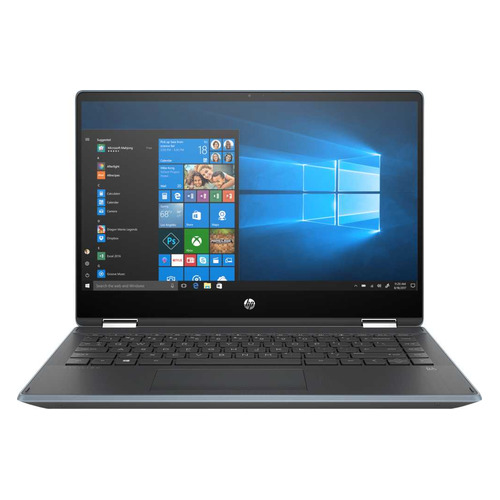 Ноутбук-трансформер HP Pavilion x360 14-dh0003ur, 14, IPS, Intel Core i5 8265U 1.6ГГц, 8Гб, 256Гб SSD, Intel UHD Graphics 620, Windows 10, 6PS36EA, синий цена