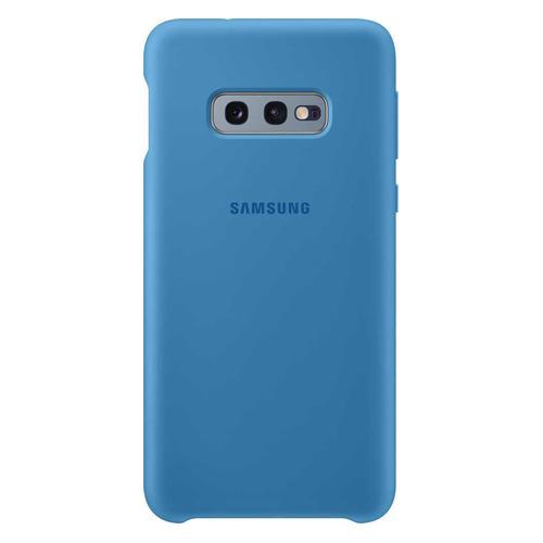 Чехол (клип-кейс) SAMSUNG Silicone Cover, для Samsung Galaxy S10e, синий [ef-pg970tlegru] цена в Москве и Питере