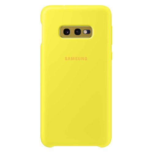 Чехол (клип-кейс) SAMSUNG Silicone Cover, для Samsung Galaxy S10e, желтый [ef-pg970tyegru] цена в Москве и Питере
