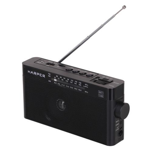 Радиоприемник HARPER HDRS-377, черный usb тв тюнер аналоговый