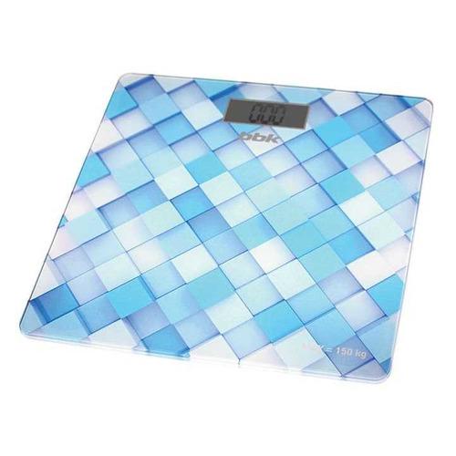 цена на Напольные весы BBK BCS3001G, до 150кг, цвет: голубой