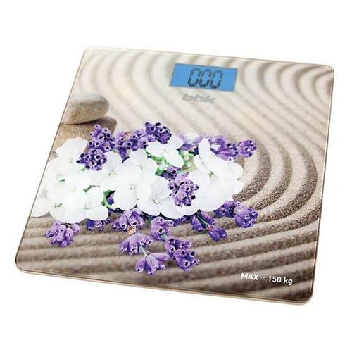 Напольные весы BBK BCS3002G, до 150кг, цвет: бежевый весы напольные bbk bcs3002g бело голубой