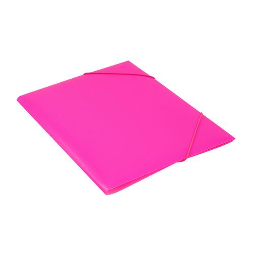 Папка на резинке Бюрократ Double Neon DNE510PINK A4 пластик кор.30мм 0.5мм розовый 10 шт./кор. папка на резинке бюрократ crystal cr510 a4 пластик кор 30мм 0 5мм ассорти 60 шт кор