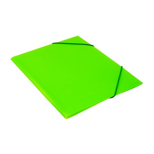 Папка на резинке Бюрократ Double Neon DNE510LETT A4 пластик кор.30мм 0.5мм салатовый 10 шт./кор. папка на резинке природные цветы a4 в ассортименте