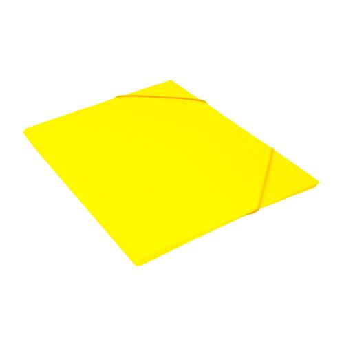 Папка на резинке Бюрократ Double Neon DNE510YEL A4 пластик кор.30мм 0.5мм желтый 10 шт./кор. папка на резинке бюрократ crystal cr510 a4 пластик кор 30мм 0 5мм ассорти 60 шт кор