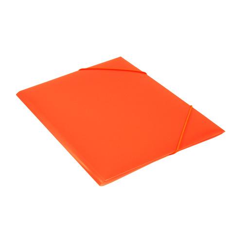 Папка на резинке Бюрократ Double Neon DNE510OR A4 пластик кор.30мм 0.5мм оранжевый 10 шт./кор. папка на резинке бюрократ crystal cr510 a4 пластик кор 30мм 0 5мм ассорти 60 шт кор
