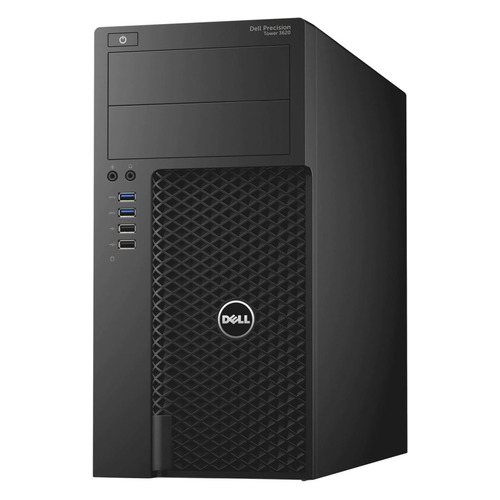 Рабочая станция DELL Precision 3620, Intel Core i5 6500, DDR4 8Гб, 256Гб(SSD), NVIDIA Quadro P400 - 2048 Мб, DVD-RW, Windows 10 Professional, черный [3620-5829] системный блок intel профессиональный компьютер pro p273 core i5 6500 3 2ghz 8gb ddr4 2tb 240gb ssd dvd rw nvidia quadro m2000 4gb 500w windows 10 professional cy 536738 p273