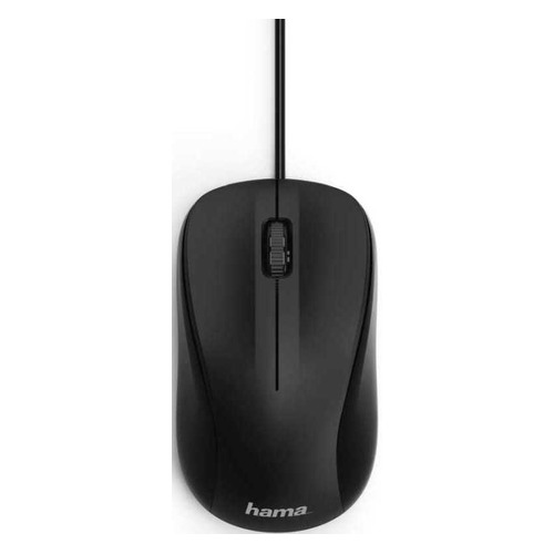 Мышь HAMA MC-300, оптическая, проводная, USB, черный [00182606] мышь hama mc 300 оптическая проводная usb черный [00182606]
