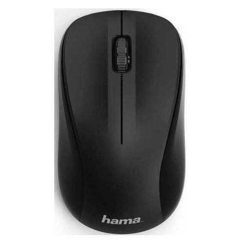 Мышь HAMA MW-300, оптическая, беспроводная, USB, черный [00182620] мышь hama mw 500 оптическая беспроводная usb серый [00182633]