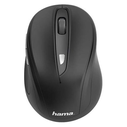 Мышь HAMA MW-400, оптическая, беспроводная, USB, черный [00182626] мышь hama mw 500 оптическая беспроводная usb серый [00182633]
