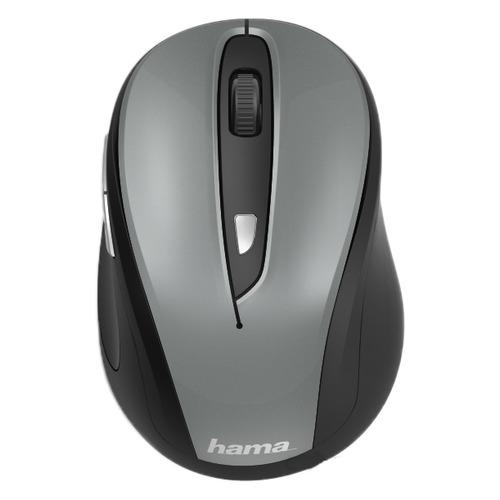 Мышь HAMA MW-400, оптическая, беспроводная, USB, серый [00182627] мышь hama mw 500 оптическая беспроводная usb серый [00182633]