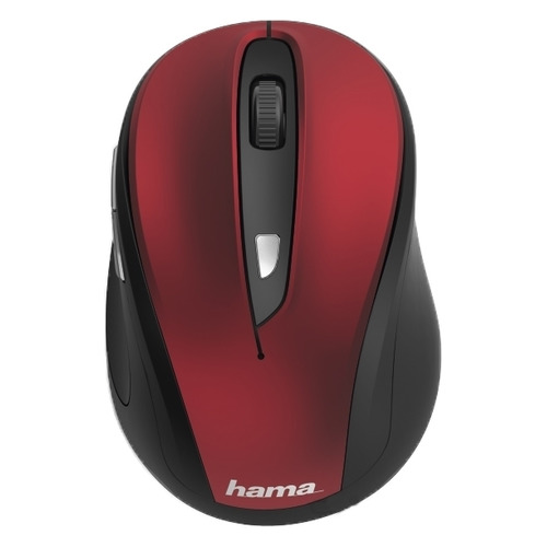 Мышь HAMA MW-400, оптическая, беспроводная, USB, красный [00182628] мышь hama mw 500 оптическая беспроводная usb серый [00182633]