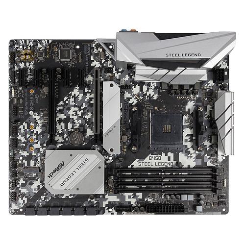 Материнская плата ASROCK B450 STEEL LEGEND, SocketAM4, AMD B450, ATX, Ret цена и фото