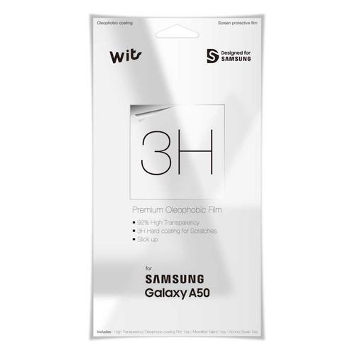 Защитная пленка для экрана SAMSUNG WITS для Samsung Galaxy A50, прозрачная, 1 шт [gp-tfa505wsatw] пленка защитная прозрачная samsung et fa720ctegru для samsung galaxy a7 2017