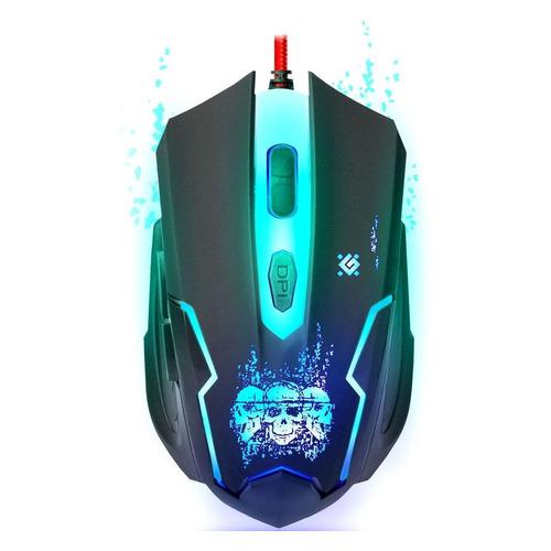 Мышь DEFENDER Skull GM-180L, игровая, оптическая, проводная, USB, черный [52180] недорого