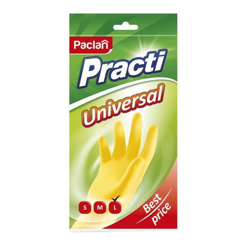 Перчатки хлопок PACLAN многоразовые, размер: L, латекс, 1 пара [407118]