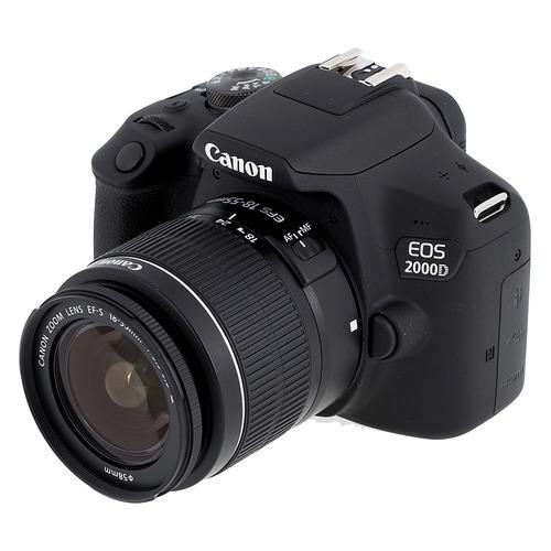 цена на Зеркальный фотоаппарат CANON EOS 2000D kit ( 18-55mm f/3.5-5.6 III), черный