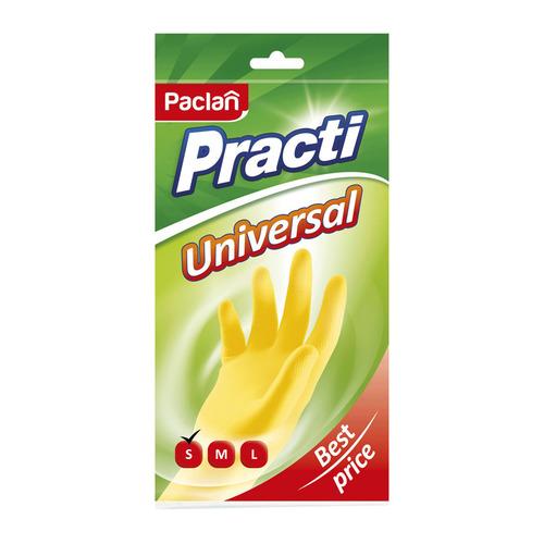 Перчатки хлопок PACLAN многоразовые, размер: S, латекс, 1 пара [407116]