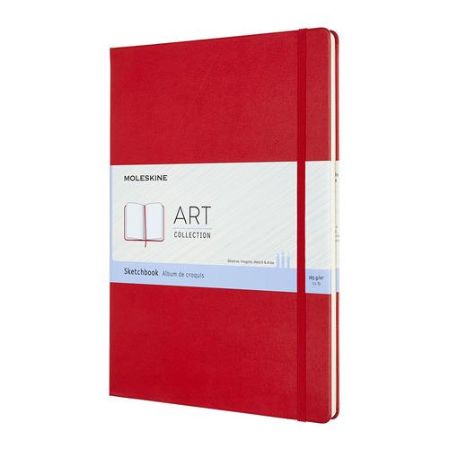 Блокнот для рисования Moleskine ART SKETCHBOOK A4 96стр. твердая обложка красный блокнот для рисования moleskine art sketchbook medium 115x180mm 72 листа black artqp054 1139405